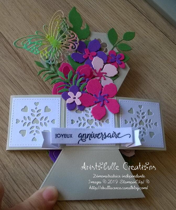 Carte anniversaire jardinière - pliée