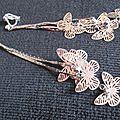 B.o. clips pendantes multitude de papillons