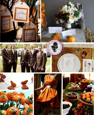 orang_chocolate_brown_wedding