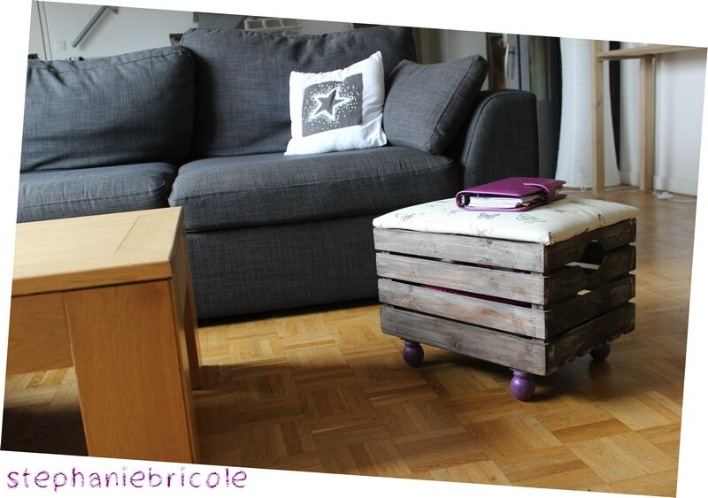 DIY trois en 1 : un siège- repose pied- rangement !