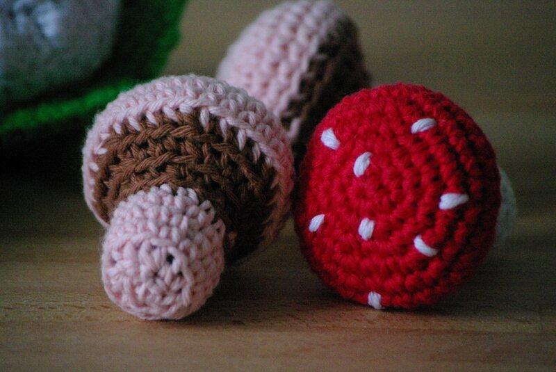 champignon au crochet