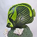 Sculpture sur pastèque: poisson papillon