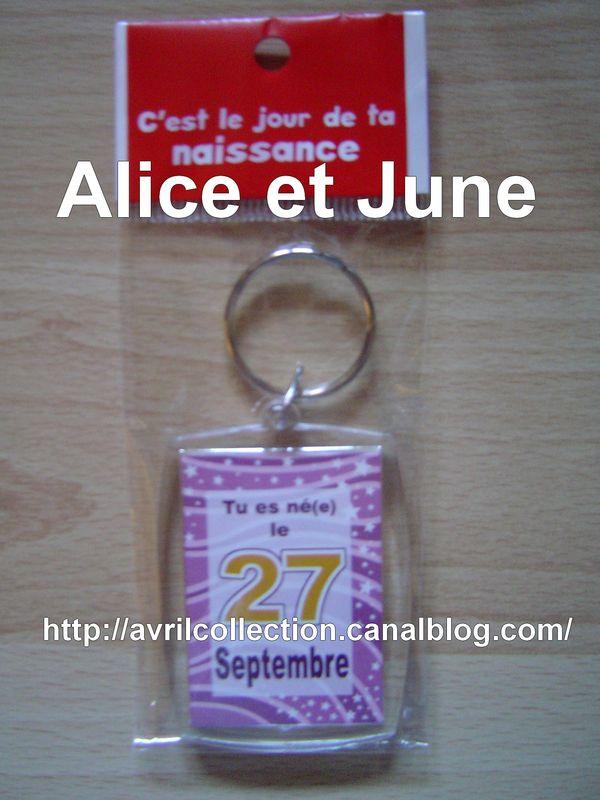 Porte-clef anniversaire-tu es né(e) le 27 septembre
