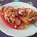 Tomates farcies aux fruits de mer et aux légumes