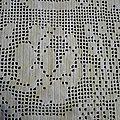 Ancien couvre-lit au crochet
