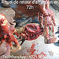 Rituel de retour d'affection en 72h
