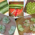 Verrines légères au concombre et au fromage blanc