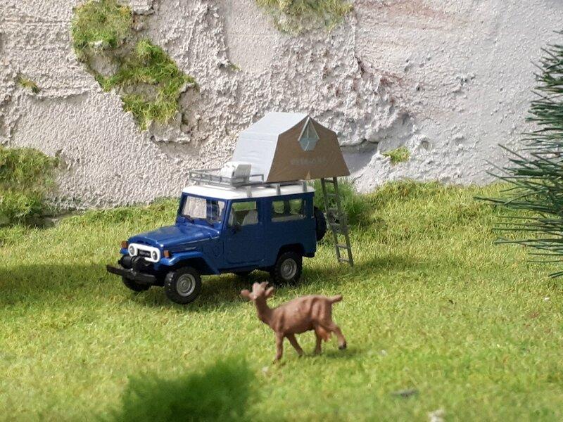 Toyota Land cruiser camping
