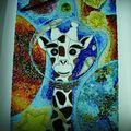 J'attaque le pelage de la girafe et ce n'est pas le plus facile !!