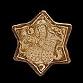 Deux carreaux de revêtement, iran, 13e siècle