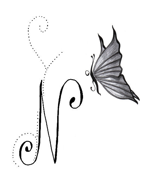 tatouage n et j l 39 association emily calligraphy. Black Bedroom Furniture Sets. Home Design Ideas
