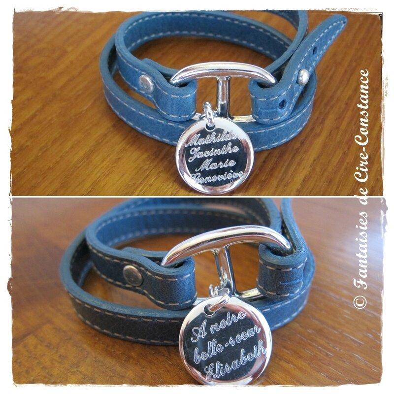 Belle ile bleu médaille 20 mm