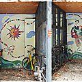 Street-art - cour de la rue des orfèvres strasbourg