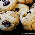 Cookies aux pistaches et canneberges
