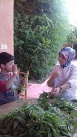 Oussama et Farah en langage des signes