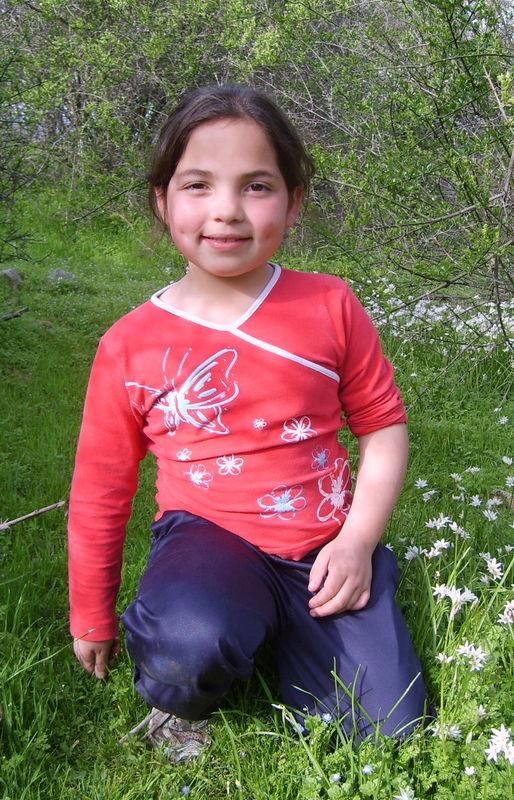 Camila vestida de primavera