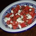 Salade de pastèque à la menthe et à la féta