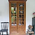 Armoire vaisselier vitrée ancienne