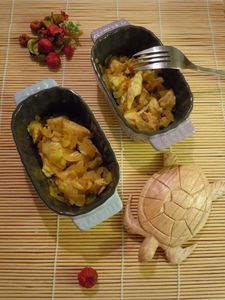 clafoutis exotiques poulet bananes coco curry
