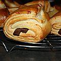Petits pains au chocolat brioches