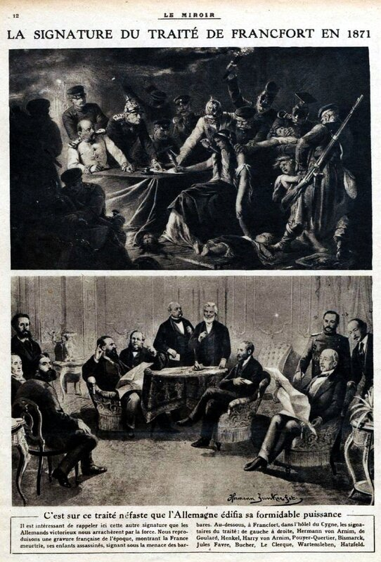 signature traité francfort 1870