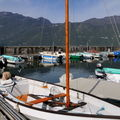 Lac du Bourget : Voilier amaré au Petit Port