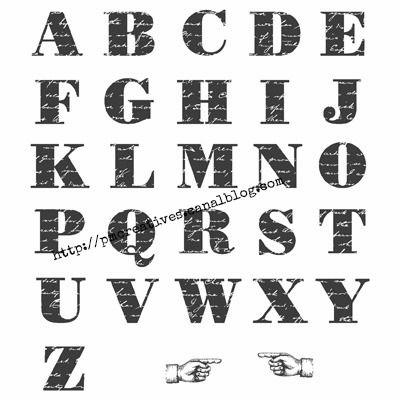 Morning Post alphabet