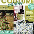 Passion Couture Créative n°6 - octobre novembre décembre 2014 - Couverture