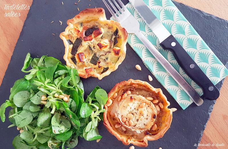recette-tartelettes-salées-courgette-féta-cumin-chévre-oignon-pignon-miel