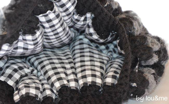 sac crochet noir et gris lou&me 3