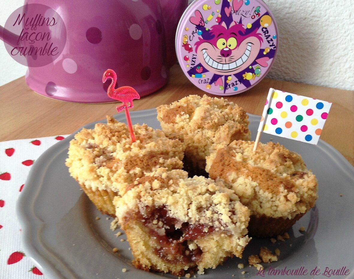 Muffins façon crumble fourrés confiture ou nutella