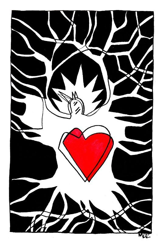 oiseau coeur
