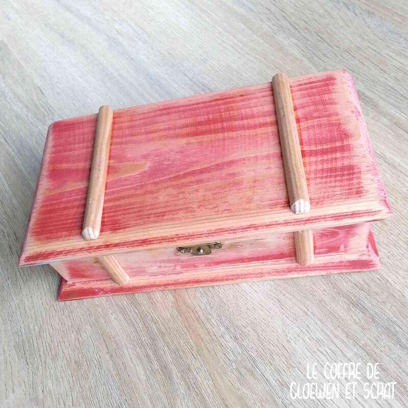 DIY transformer une vieille boite en coffre aux trésorx
