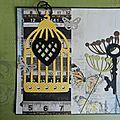 2 cartes cages à oiseaux