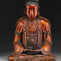 A gilt-lacquered figure of guanyin, ming dynasty (1368-1644)