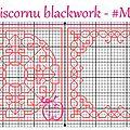 Grille biscornu blackwork #m13