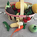 Fruits et légumes au crochet