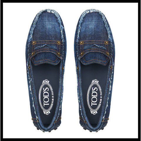 tods mocassins gommino denim 2