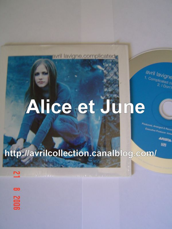 CD Single Complicated-version européenne (2002)