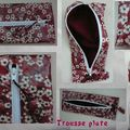 Trousse plate Mitsi rouge