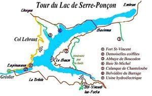 tour du lac de Serre-Ponçon