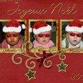 Une carte joyeux noël 2007(photos masquées)