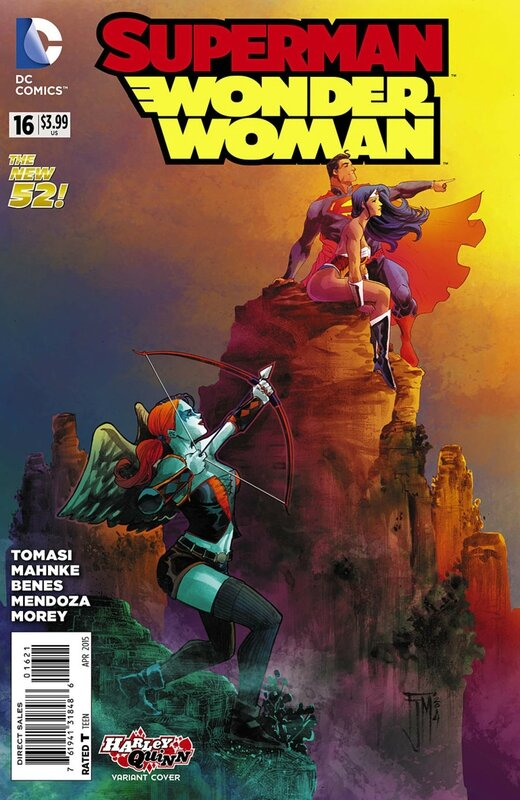 superman wonder woman 16 harley variant