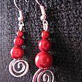 B.o. pendantes perles magiques rouges