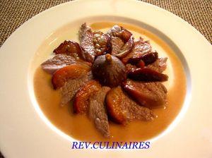 rosace de noisette d'agneau aux figues