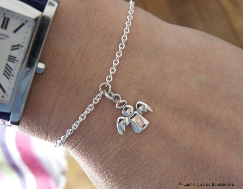 Bracelet mon Bon Ange (porté)