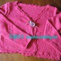 Petit gilet en laine chantilly de bdf .modèle