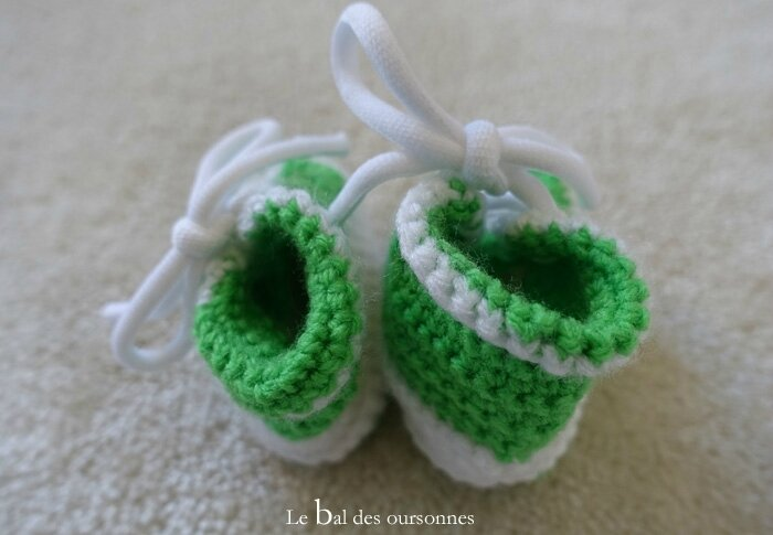 117 Blog Basket Converse Crochet Bébé Hand made Tuto