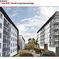 Autres propositions de façades avec garde-corps en vitres ou avec des barreaux