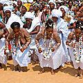 Célébration fête du vaudou 2020 au bénin grand maître marabout voyant roi amangninou